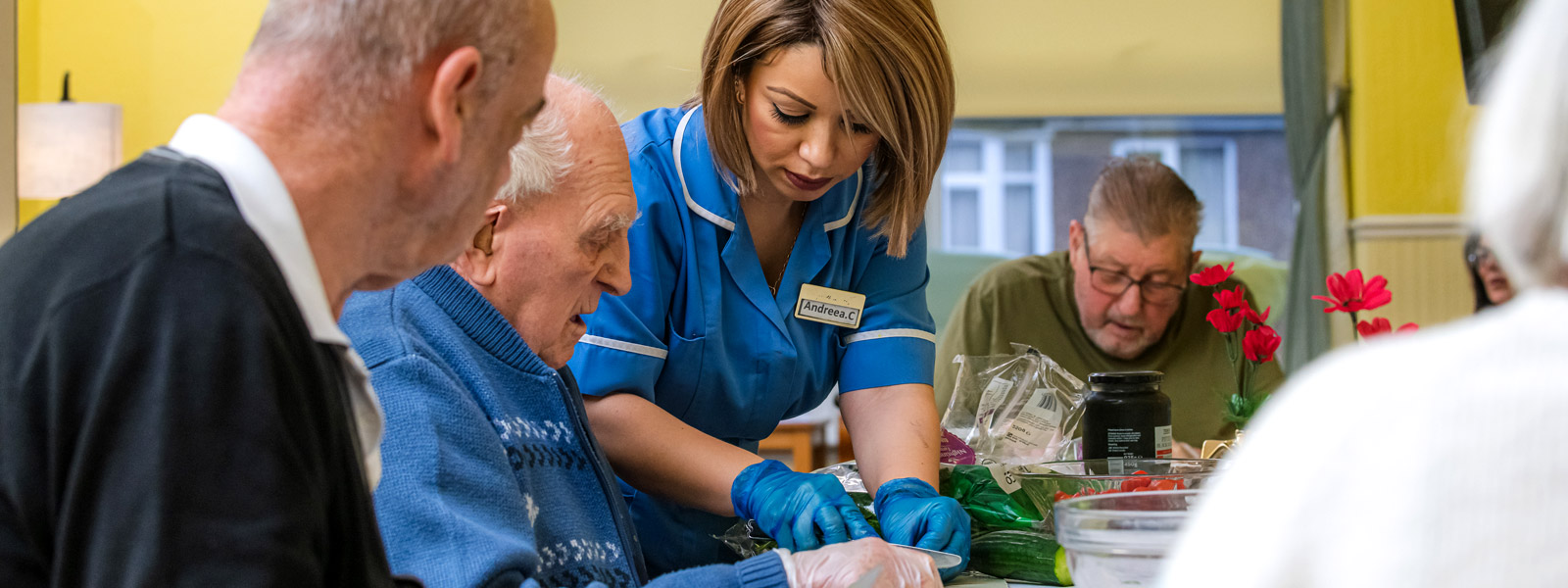 Our helpful staff help residents with activities wherever their support is needed