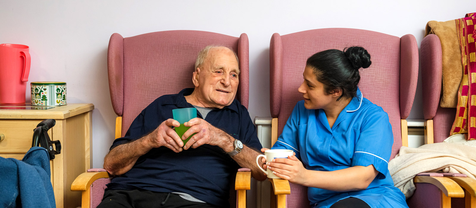 Keeping in contact with care home residents via Skype video calls & email