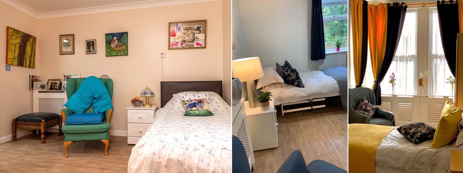 Residents can personalise their rooms with family photos, favourite items of furniture, their own TV etc.